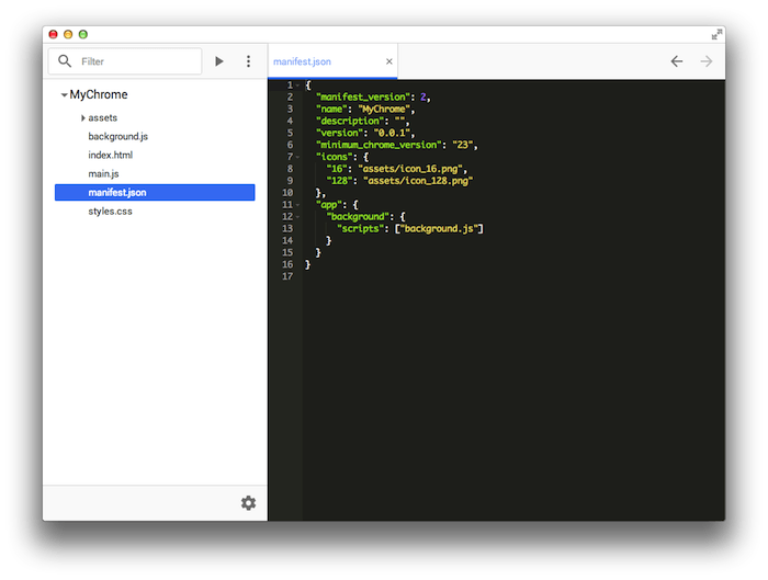 chrome dev editor