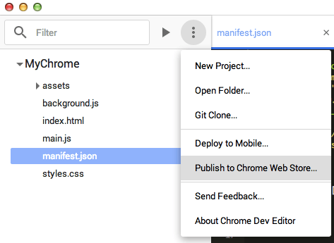 Chrome Dev Editor — приложение для создания приложений