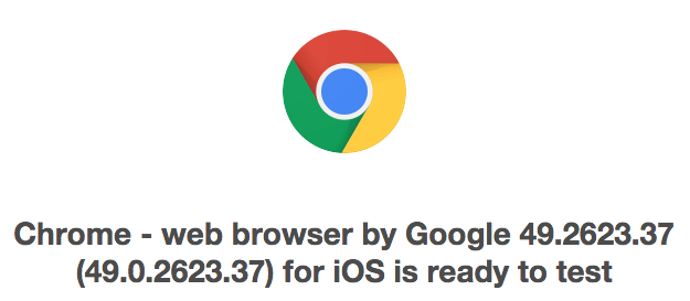 Google Chrome 49 Beta для iOS